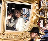 Nederland. Den Haag, 19 september 2006.<br /> Prinsjesdag. Publiek bij paleis Noordeinde.  koninklijke familie , monarchie, koninklijk huis, vaderlandsliefde, natie, holland, hollands, oranje. prinsjesdag opening parlementaire jaar  derde dinsdag van september traditie. Maxima Zorreguieta<br /> Foto Martijn Beekman<br /> NIET VOOR TROUW, AD, TELEGRAAF, NRC EN HET PAROOL