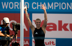 Britta Steffen of Germany won during Women's  100m Freestyle Final during the 13th FINA World Championships Roma 2009, on July 31, 2009, at the Stadio del Nuoto,  in Foro Italico, Rome, Italy. (Photo by Vid Ponikvar / Sportida)
