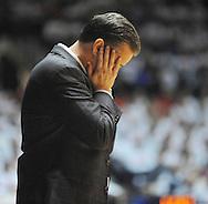 "Kentucky head coach John Calipari reacts against Mississippi at the C.M. ""Tad"" Smith Coliseum on Tuesday, January 29, 2013.  (AP Photo/Oxford Eagle, Bruce Newman).."