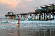 Dusk at the Cocoa Beach Pier in Brevard County, Florida