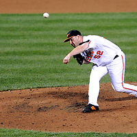 09 June 2009:  Baltimore Orioles relief pitcher George Sherrill (52) pitches in the 9th inning to earn his 12th save of the season against the Seattle Mariners at Camden Yards in Baltimore, MD.  The Orioles defeated the Mariners 3-1.  ****For Editorial Use Only****