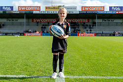Exeter Chiefs match mascot prior to kick off - Mandatory by-line: Ryan Hiscott/JMP - 19/10/2019 - RUGBY - Sandy Park - Exeter, England - Exeter Chiefs v Harlequins - Gallagher Premiership Rugby