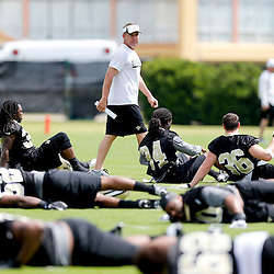 May 23, 2013; New Orleans, LA, USA; New Orleans Saints head coach Sean Payton watches over his team during organized team activities at the Saints training facility. Mandatory Credit: Derick E. Hingle-USA TODAY Sports1
