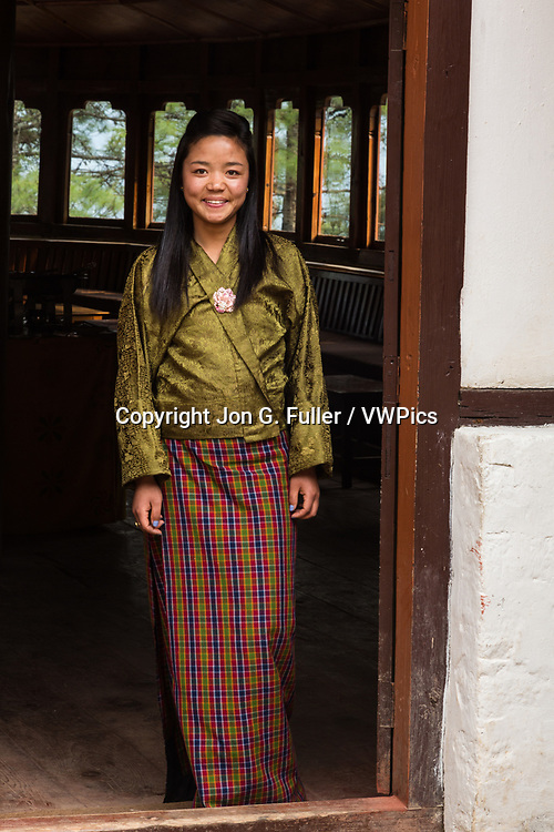 Portrait of a young Bhutanese woman