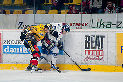 23.12.2016, Ice Rink, Znojmo, CZE, EBEL, HC Orli Znojmo vs Fehervar AV 19, 34. Runde, im Bild v.l. Marek Biro (HC Orli Znojmo) Justin Maylan (Fehervar AV19) // during the Erste Bank Icehockey League 34th round match between HC Orli Znojmo and Fehervar AV 19 at the Ice Rink in Znojmo, Czech Republic on 2016/12/23. EXPA Pictures © 2016, PhotoCredit: EXPA/ Rostislav Pfeffer