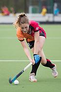 Eindhoven - Oranje Rood - Kampong  Dames, Hoofdklasse Hockey Heren, Seizoen 2017-2018, 15-04-2018, Oranje Rood - Kampong 3-1,  Laura Nunnink (Oranje-Rood)<br /> <br /> (c) Willem Vernes Fotografie