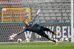 June 3, 2017 - Brussels, BELGIUM - Belgium's goalkeeper Koen Casteels pictured in action during a training of Belgian national soccer team Red Devils, Saturday 03 June 2017, in Brussels. Belgium plays a friendly game against Czech Republic on 05 June and a World Cup 2018 qualifier in Estonia. BELGA PHOTO BRUNO FAHY (Credit Image: © Bruno Fahy/Belga via ZUMA Press)