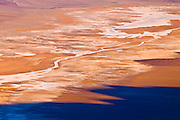 Salt pan detail from Dante's View, Death Valley National Park, California