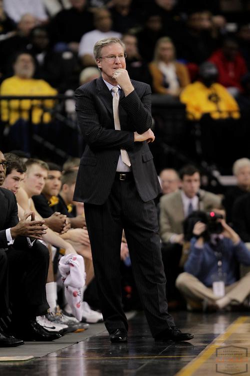 31 December 2012: Iowa Head Coach Fran McCaffery as the Indiana Hoosiers played the Iowa Hawkeyes in Iowa City, IA.