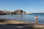 Calvi's Citadel overlooks the harbour and the beach.