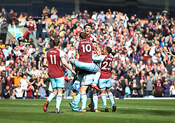 Kevin Long of Burnley (Hidden) celebrates scoring his sides second goal - Mandatory by-line: Jack Phillips/JMP - 14/04/2018 - FOOTBALL - Turf Moor - Burnley, England - Burnley v Leicester City - English Premier League