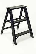 still life of black step ladder