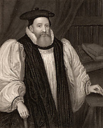 George Abbot (1562-1633) English churchman. Archbishop of Canterbury from 1611.  Engraving.
