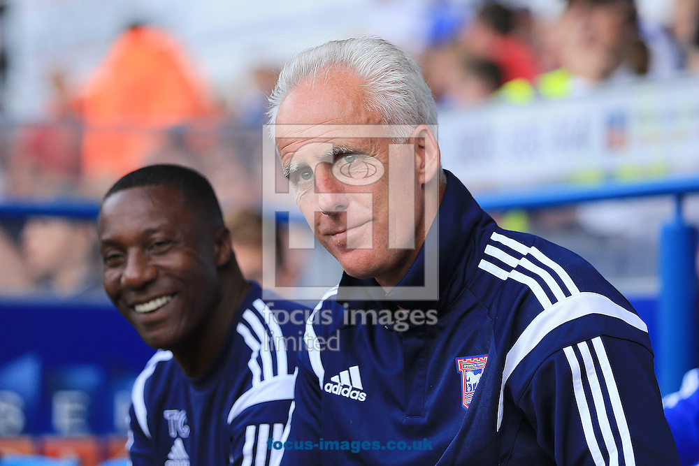 Manager of Ipswich Town, Mick McCarthy (right) and assistant Manager, Terry Connor (left) during the Pre Season Friendly match Adrian West Ham United at Portman Road, Ipswich<br /> Picture by Richard Calver/Focus Images Ltd +447792 981244<br /> 16/07/2014