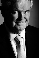 WASHINGTON, DC:  Republican Presidential Candidate Former Speaker Newt Gingrich stands for a quick portrait at The Washington Post, Tuesday, November  8, 2011. Like any candidate, the Speaker was running on a tight schedule. (Photo by Melina Mara/The Washington Post) . ...