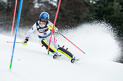 "Bernadette Schild (AUT) competes during 1st Run of FIS Alpine Ski World Cup 2017/18 Ladies' Slalom race named ""Snow Queen Trophy 2018"", on January 3, 2018 in Course Crveni Spust at Sljeme hill, Zagreb, Croatia. Photo by Vid Ponikvar / Sportida"
