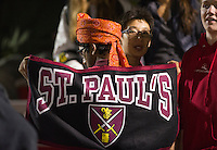 St Paul's Schooi varsity football versus Roxbury Latin.  ©2016 Karen Bobotas Photographer