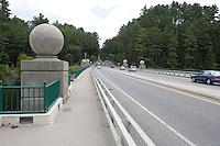 Center of the Hanover Bridge, Hanover, NH, marks the NH-VT border.