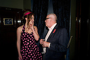 JOSEPHINE TAYLOR; RICHARD WILSON, The Supper Club, party which follows evening of 50  dinner parties raising money for the Terrence Higgins Trust. CafŽ de Paris, 3 Coventry Street, London, 28 October 2008. *** Local Caption *** -DO NOT ARCHIVE -Copyright Photograph by Dafydd Jones. 248 Clapham Rd. London SW9 0PZ. Tel 0207 820 0771. www.dafjones.com