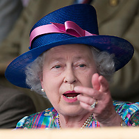 Windsor, England,  May 9th  Her Majesty Queen Elizabeth II during few prize presentations for the Royal Windsor Horse Show 2008