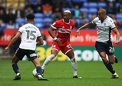 Adama Traore of Middlesbrough (C) and Darren Pratley of Bolton Wanderers (R) in action - Mandatory by-line: Jack Phillips/JMP - 09/09/2017 - FOOTBALL - Macron Stadium - Bolton, England - Bolton Wanderers v Middlesbrough - English Football League Championship