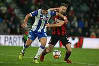 Football - 2017 / 2018 FA Cup - Third Round : AFC Bournemouth vs. Wigan Athletic<br /> <br /> Bournemouth's Marc Pugh tussles for the ball with Sam Morsy of Wigan Athletic at Dean Court (Vitality Stadium) Bournemouth <br /> <br /> COLORSPORT/SHAUN BOGGUST