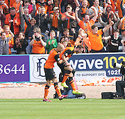 Dundee United's Keith Watson celebrates - Dundee v Dundee United, SPFL Premiership at Dens Park<br /> <br />  - &copy; David Young - www.davidyoungphoto.co.uk - email: davidyoungphoto@gmail.com