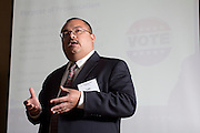 Leo Bobadilla, Houston Independent School District presents at the 2013 CEFPI Southern Region Conference about planning and passing a $1.89 billion bond referendumin in Austin, Texas on Friday, April 5, 2013 at the Renaissance Austin Hotel. (Christina Burke)