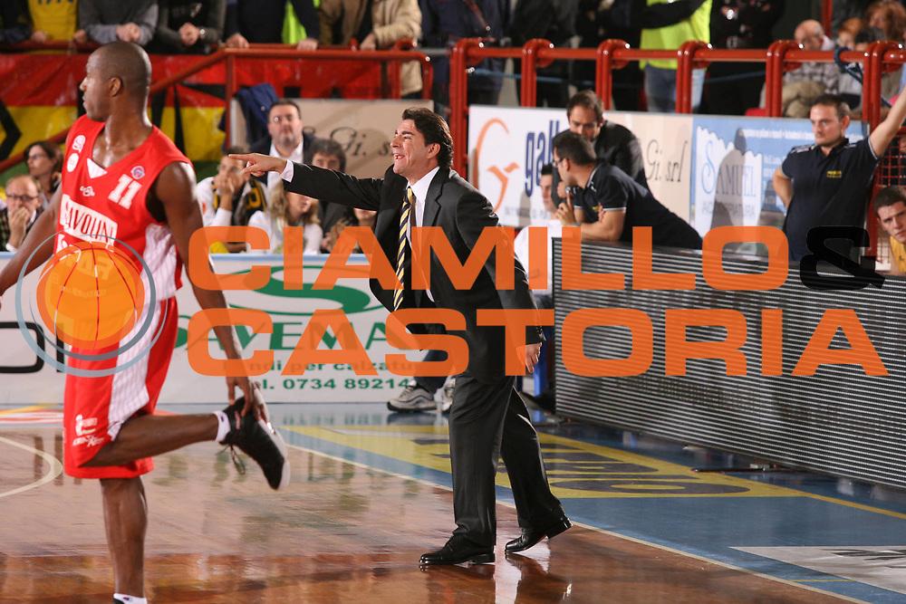 DESCRIZIONE : Porto San Giorgio Lega A1 2007-08 Premiata Montegranaro Scavolini Spar Pesaro <br /> GIOCATORE : Alessandro Finelli <br /> SQUADRA : Premiata Montegranaro <br /> EVENTO : Campionato Lega A1 2007-2008 <br /> GARA : Premiata Montegranaro Scavolini Spar Pesaro <br /> DATA : 21/10/2007 <br /> CATEGORIA : Ritratto <br /> SPORT : Pallacanestro <br /> AUTORE : Agenzia Ciamillo-Castoria/G.Ciamillo