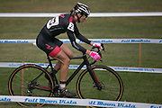 Cassandra Maximemko competes in the Elite Women's race at the Ellison Park Cyclocross Festival in Rochester on Saturday, October 11, 2014.