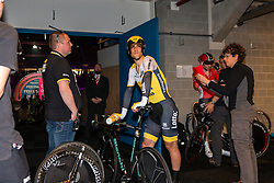 TJALLINGII Maarten from the Netherlands of Team Lotto NL - Jumbo (NED) before the start at velodrome Omnisport, stage 1 (ITT) from Apeldoorn to Apeldoorn running 9,8 km of the 99th Giro d'Italia (UCI WorldTour), The Netherlands, 6 May 2016. Photo by Pim Nijland / PelotonPhotos.com | All photos usage must carry mandatory copyright credit ( Peloton Photos | Pim Nijland)