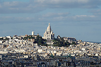 France, Paris (75), la basilique du Sacré Coeur et la butte Montmartre // France, Paris, Montmartre and Sacre Coeur Basilique