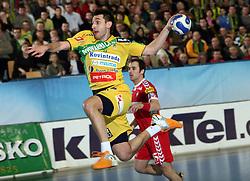 Dragan Gajic of Celje PL at handball match RK Celje Pivovarna Lasko vs GOG Svendborg TGI Gudme (Danmark) in 4th group of EHF Champions league Men, on March 16, 2008 in Celje, Slovenia. Draw 30:30. (Photo by Vid Ponikvar / Sportal Images)