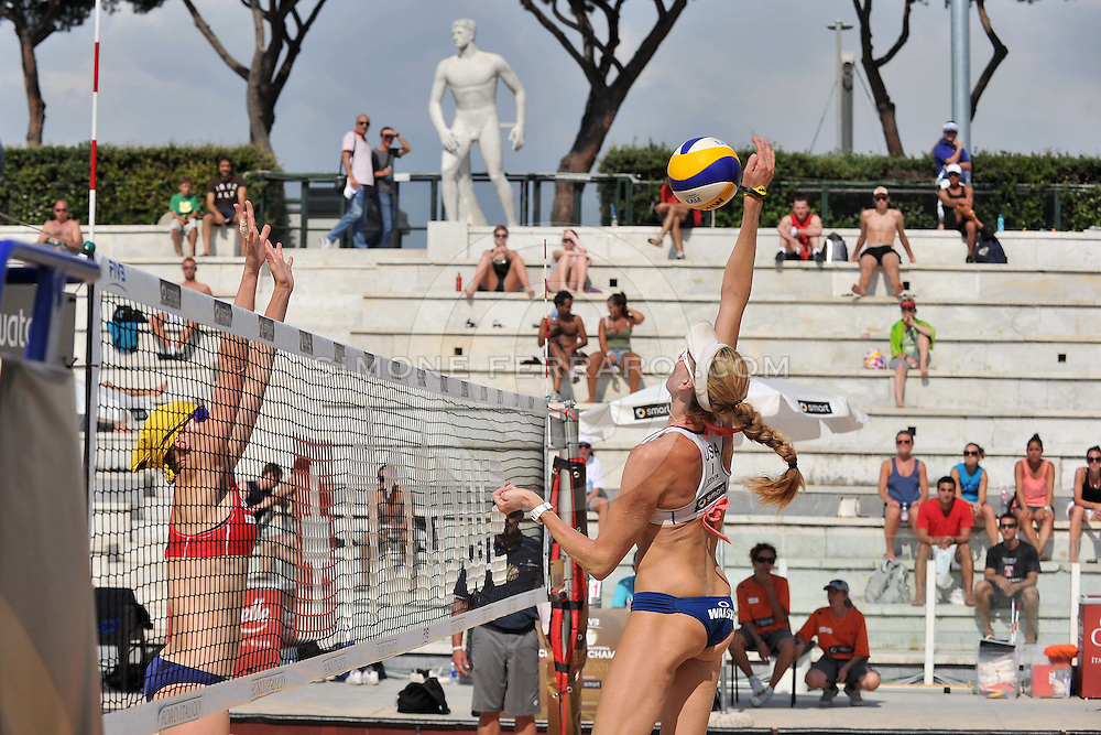 Roma, 15/06/2011..Swatch World Championships Rome2011. Foro Italico..May-Treanor-Walsh USA vs Novakova-Tobiasova CZE.Foto Simone Ferraro - GMT