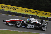 The Toyota Racing Series car of Britain's Jordan King during qualifying for the NZ Grand Prix at the Fujitsu 200 at Manfeild Autocourse on 11 February 2012. The Fujitsu 200 is part of the New Zealand Premier Race Championship Series.