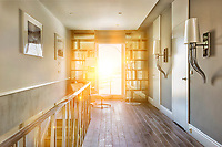 Photo of modern rental apartment interior with lens flare