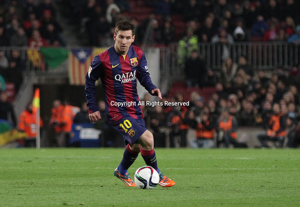 21.01.2015. Barcelona, Spain. Coppa del Rey, 1st leg. Barcelona versus At. de Madrid. Messi in action during the match