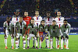 Players of Lyon during football match between GNK Dinamo Zagreb and Olympique Lyonnais in Group H of Group Stage of UEFA Champions League 2016/17, on November 22, 2016 in Stadium Maksimir, Zagreb, Croatia. Photo by Morgan Kristan / Sportida