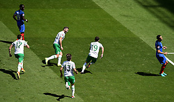 Robbie Brady of Republic of Ireland celebrates  - Mandatory by-line: Joe Meredith/JMP - 26/06/2016 - FOOTBALL - Stade de Lyon - Lyon, France - France v Republic of Ireland - UEFA European Championship Round of 16