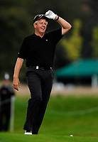 Photo: Richard Lane.<br />WGC American Express Championship, The Grove. 28/09/2006. <br />Colin Montgomerie of Scotland smiles during the 1st round.