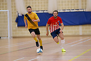 Wattcell Futsal Club (red and white) v TMT Futsal Club (yellow) in the Scottish Futsal Cup Final at Perth College, Perth, Photo: David Young<br /> <br />  - &copy; David Young - www.davidyoungphoto.co.uk - email: davidyoungphoto@gmail.com