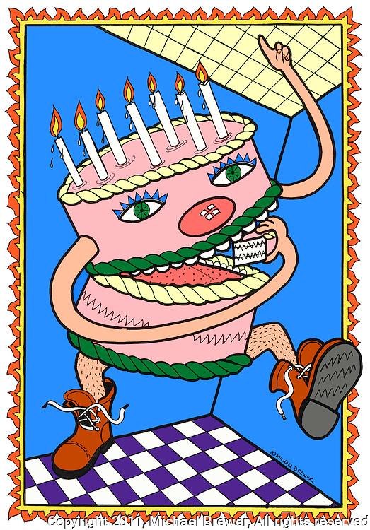 Illustrations Birthday cake Michael Brewer Photography