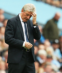 Crystal Palace manager Roy Hodgson looks dejected - Mandatory by-line: Matt McNulty/JMP - 23/09/2017 - FOOTBALL - Etihad Stadium - Manchester, England - Manchester City v Crystal Palace - Premier League