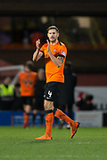 12th January 2019, Tannadice Park, Dundee, Scotland; Scottish Championship football, Dundee United versus Dunfermline Athletic; Frederic Frans of Dundee United applauds the fans at the end of the match