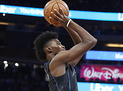 November 14, 2018 - Orlando, FL, USA - The Orlando Magic's Jonathan Isaac shoots against the Philadelphia 76ers at the Amway Center in Orlando, Fla., on Wednesday, Nov. 14, 2018. (Credit Image: © Stephen M. Dowell/Orlando Sentinel/TNS via ZUMA Wire)