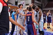 """Team Banco di Sardegna Dinamo Sassari<br /> Banco di Sardegna Dinamo Sassari - Hertz Cagliari Dinamo Academy<br /> Torneo """"Città di Sassari - Mimì Anselmi"""" <br /> Sassari, 28/09/2018<br /> Foto L.Canu / Ciamillo-Castoria"""