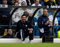 Photo: Jed Wee.<br />Leeds United v Southend United. Coca Cola Championship. 28/10/2006.<br /><br />Leeds' new assistant manager Gus Poyet shouts instructions from the dugout.