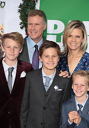 November 6, 2017 - Los Angeles, California, USA - 11/5/17.Will Ferrell and his wife Viveca Paulin with their sons Magnus Ferrell, Mattias Ferrell and Axel Ferrell at the premiere of ''Daddy''s Home 2'' held at the Regency Village Theatre in Westwood..(Los Angeles, CA) (Credit Image: © Starmax/Newscom via ZUMA Press)