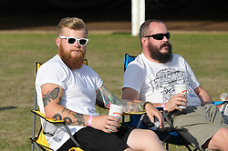 Festival goers sporting impressive beards at the Brentwood Festival Essex2015