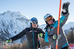 03.12.2016, Val d Isere, FRA, FIS Weltcup Ski Alpin, Val d Isere, Abfahrt, Herren, Streckenbesichtigung, im Bild Romed Baumann (AUT), Andreas Puelacher (Sportlicher Leiter ÖSV Ski Alpin Herren) // Romed Baumann of Austria, Andreas Puelacher Austrian Ski Association head Coach alpine Men's during the course inspection for the men's downhill of the Val d Isere FIS Ski Alpine World Cup.. Val d'Isere, France on 2016/12/03. EXPA Pictures © 2016, PhotoCredit: EXPA/ Johann Groder